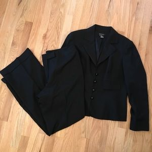 Etcetera black 100% wool fully lined suit size 16